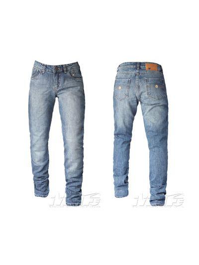 Ženske jeans hlače Mottowear Rezista modre