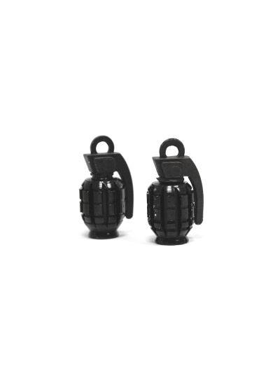 HZT Pokrovčki ventilčkov v obliki granate - črni