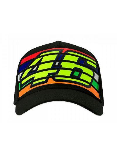 Kapa s šiltom VR46 46 Stripes - črna