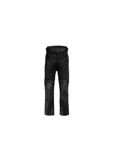 REV'IT GEAR2 črne usnjene motoristične hlače - skrajšane