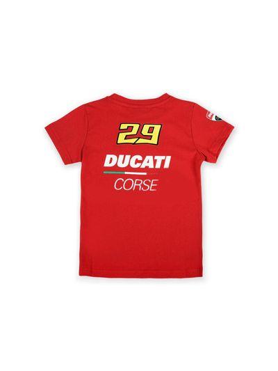Otroška majica s kratkimi rokavi Ducati Corse - rdeča (velikost 2-4)
