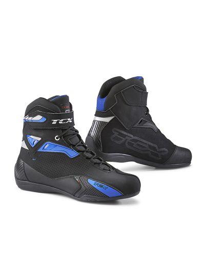 TCX RUSH motoristični nizki škornji - črni / modri