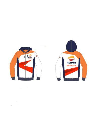 Jopa s kapuco Honda REPSOL modra/oranžna/bela