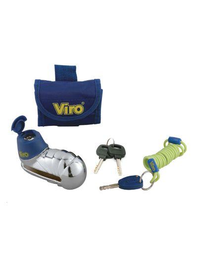 VIRO ARMADILLO disk ključavnica za motorno kolo - srebrna/krom