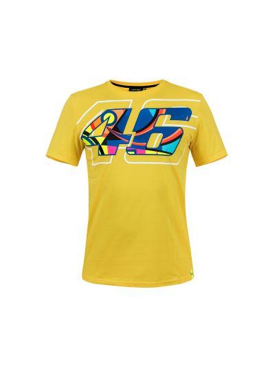 Moška majica s kratkimi rokavi VR 46 Race - rumena