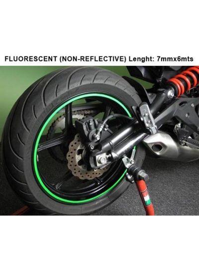 Obroba za platišča neprekinjeni (trak) - fluo zeleni