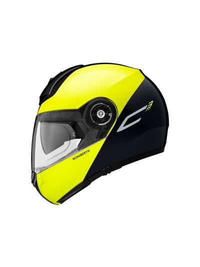 Motoristična čelada SCHUBERTH C3 PRO - Split Rumena