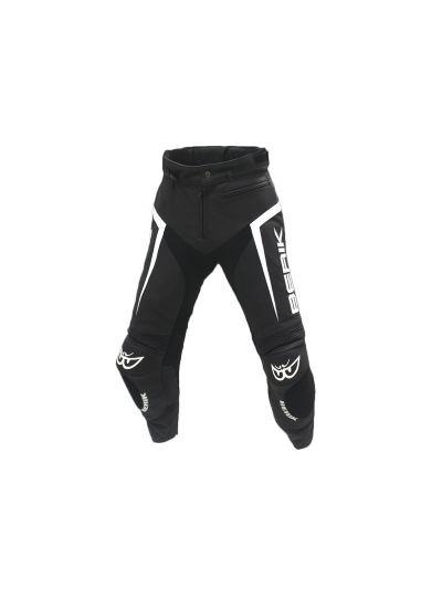 BERIK 10556 usnjene motoristične hlače - črne