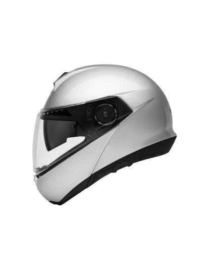 C4 SILVER - Motoristična preklopna čelada / srebrna