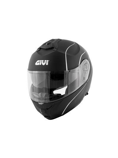 GIVI X.21 CHALLENGER Preklopna motoristična čelada - mat črna
