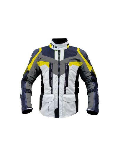 BERIK STRIKER tekstilna motoristična jakna - črna/siva