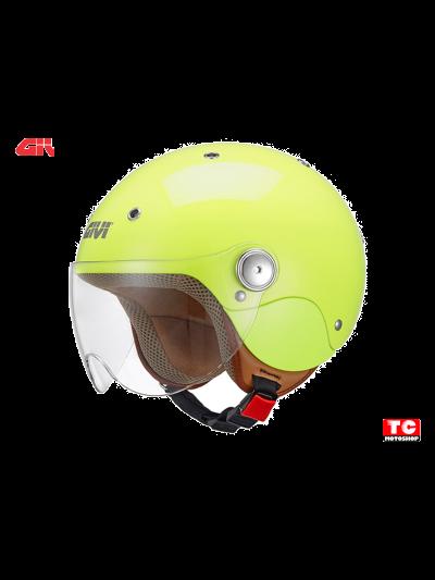 JUNIOR 3 GIVI - Otroška motoristična JET čelada - fluo-rumena