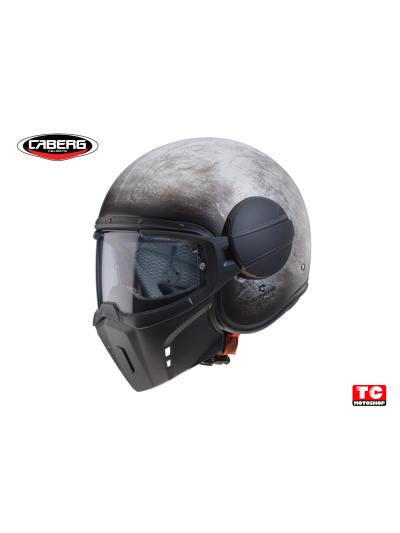 CABERG GHOST IRON jet motoristična čelada - ročno polirana