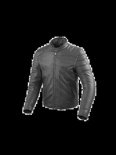 REV'IT STEWART AIR motoristična usnjena jakna - črna