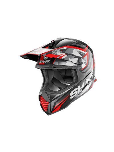SHARK VARIAL TIXIER Motoristična kros čelada - črna/rdeča