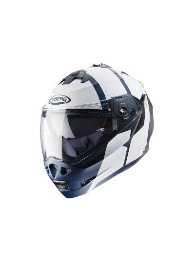 CABERG DUKE II IMPACT Motoristična preklopna čelada - mat modra / bela
