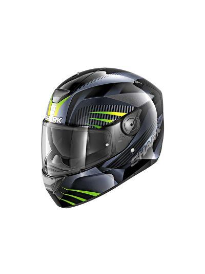 SHARK D-SKWAL MERCURIUM integralna motoristična čelada - črna/antracit/zelena