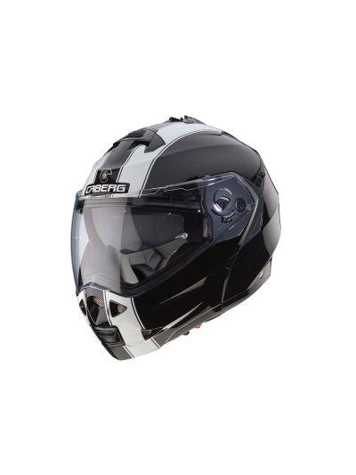 CABERG DUKE II LEGEND Motoristična preklopna čelada - belo/črna