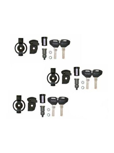 GIVI SL103 Set 3 ključavnic s ključi za kovčke