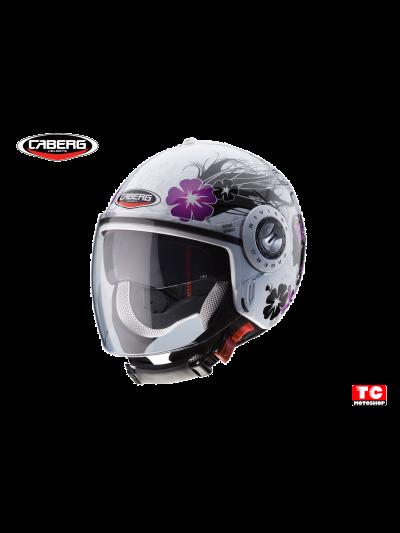 CABERG RIVIERA V3 DIVA - Motoristična odprta čelada - belo/srebrna