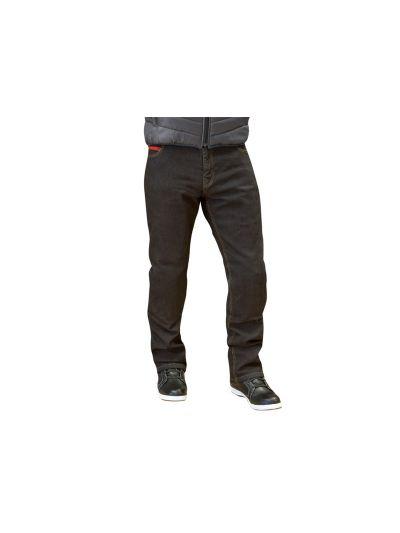 MERLIN Blake moške motorističn jeans hlače - črne