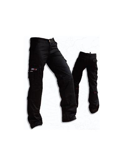 Mottowear NAMI ženske motoristične jeans hlače - črne (velikost XL)