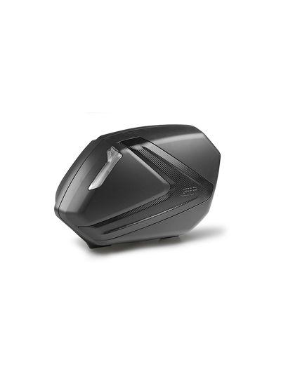GIVI V37NNT Stranska kovčka z belim odbojnikom- črna/carbon | 37 l