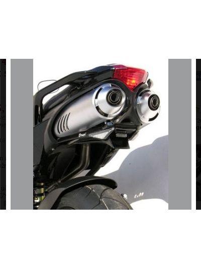 Ermax zadek z belimi smerokazi za Yamaha FZ6 (2004 - 2010) - črn