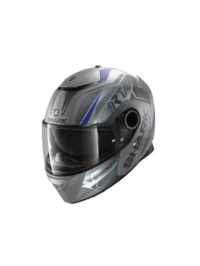 SHARK SPARTAN KARKEN Integralna motoristična čelada - antracit/modra/črna