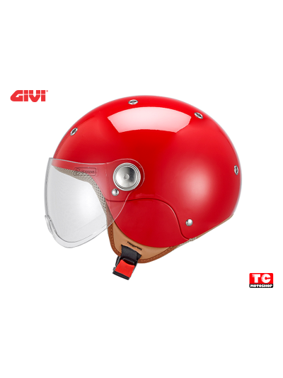 JUNIOR 3 GIVI - Otroška motoristična JET čelada - rdeča
