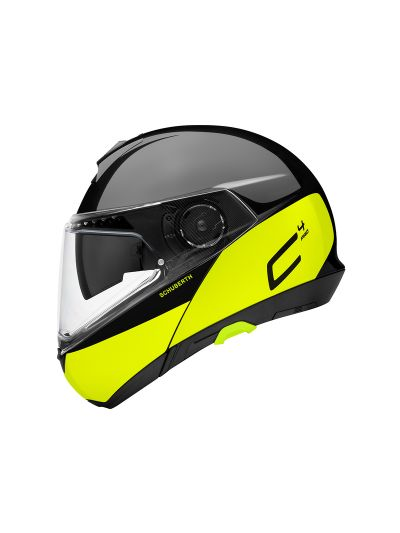 SCHUBERTH C4 PRO Swipe motoristična preklopna čelada - rumena / črna