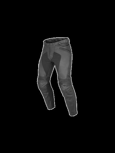 DAINESE PONY C2 usnjene motoristične hlače - črne