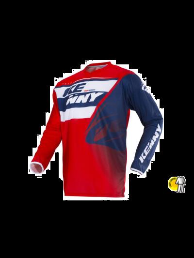 Kenny Racing TRACK motoristična motocross majica - rdeča / modra / bela