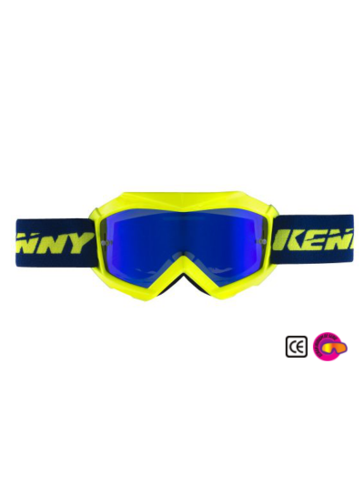 Otroška kros očala Kenny Racing TRACK KID fluo rumena/modra