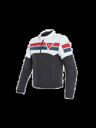 DAINESE 8-TRACK tekstilna motoristična jakna - črna/ice/rdeča