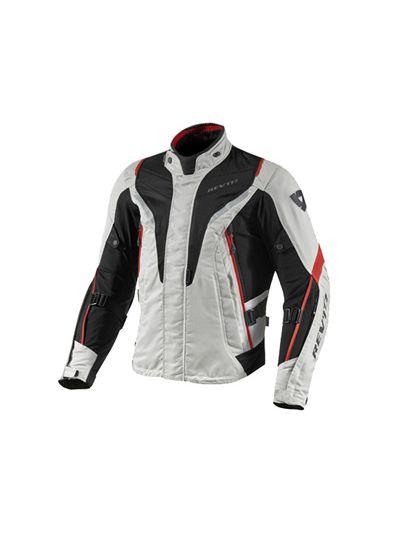 REV'IT VAPOR srebrno/rdeča tekstilna motoristična jakna