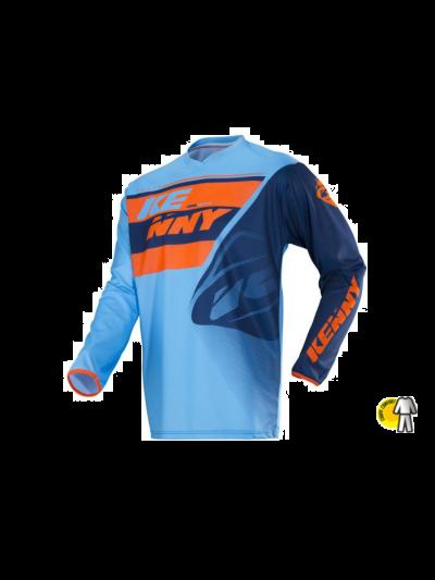 Kenny Racing TRACK motoristična motocross majica - modra / oranžna (velikost XXL)