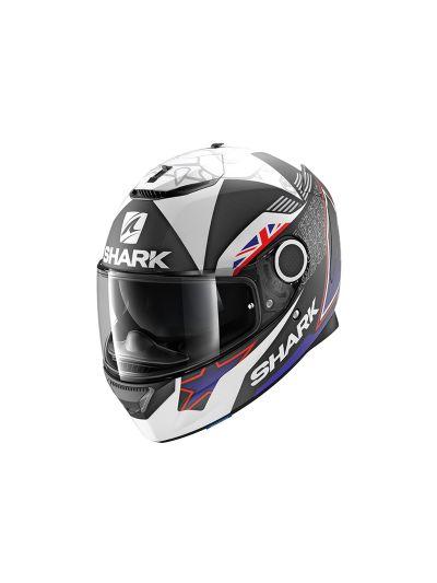 SHARK SPARTAN REDDING Integralna motoristična čelada - črna/modra/bela