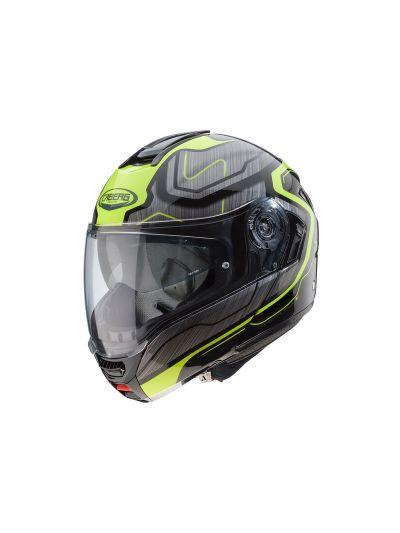 CABERG LEVO FLOW Motoristična preklopna čelada - črna/antracit/fluo rumena