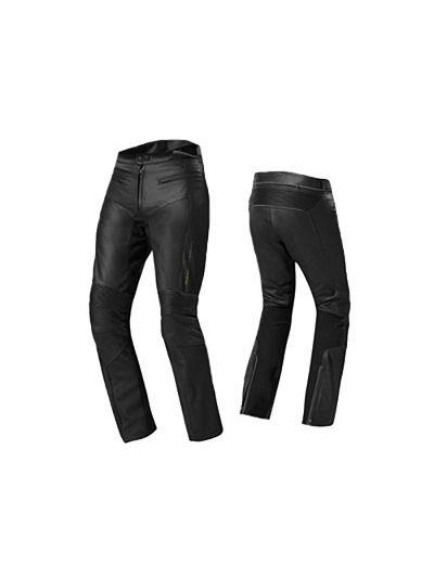 REV'IT MAVERICK EVO črne usnjene motoristične hlače - skrajšane