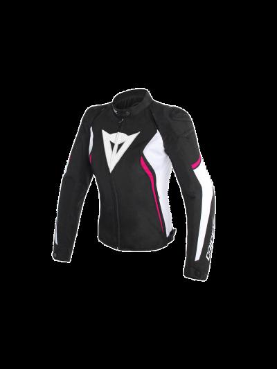 DAINESE AVRO D2 Lady ženska tekstilna motoristična jakna - črna/bela/fuksija