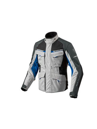 REV'IT OUTBACK 2 srebrno-modra tekstilna motoristična jakna
