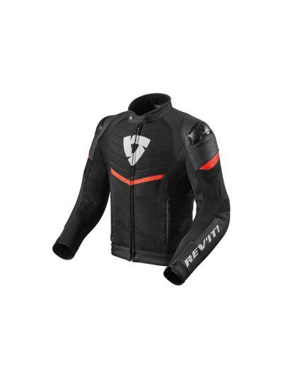 REV'IT MANTIS Kombinirana motoristična jakna - črna / neon rdeča