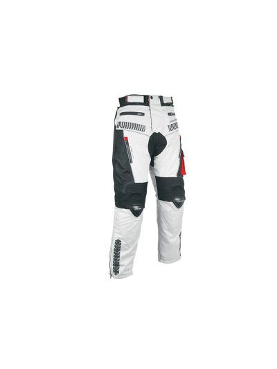 ATROX tekstilne motoristične moške hlače - sive/črne/rdeče