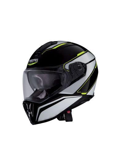 Motoristična čelada Caberg DRIFT TOUR - črna, bela, fluo-rumena