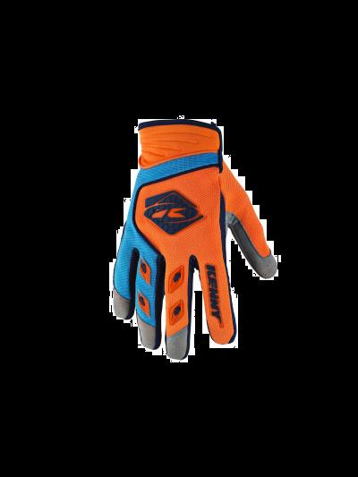 Kros rokavice Kenny Racing TRACK oranžna/modra sky
