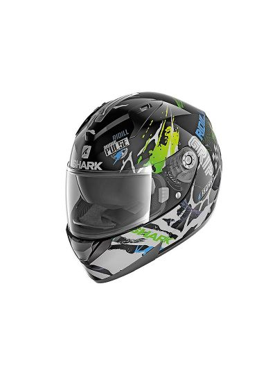 SHARK RIDILL 1.2 DRIFT-R Integralna motoristična čelada - črna/zelena/modra