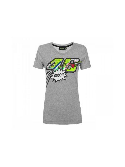 Ženska majica s kratkimi rokavi Pop Art VR46 - siva