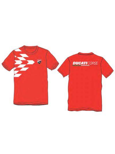 Otroška majica s kratkimi rokavi DUCATI Corse - rdeča