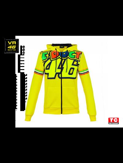 THE DOCTOR 46 HOODIE - Moška jopa s kapuco VR 46 Stripes rumena